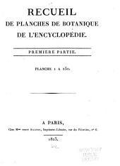 Recueil de planches de botanique de l'Encyclopédie