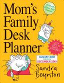 Mom s Family Desk Planner Calendar 2019