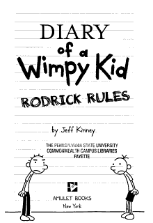 Diary of a Wimpy Kid   2   Rodrick Rules Book