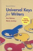 Universal Keys for Writers