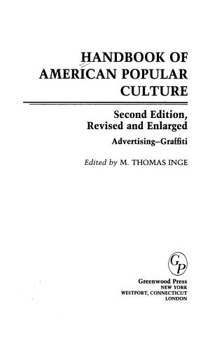 Handbook of American Popular Culture PDF