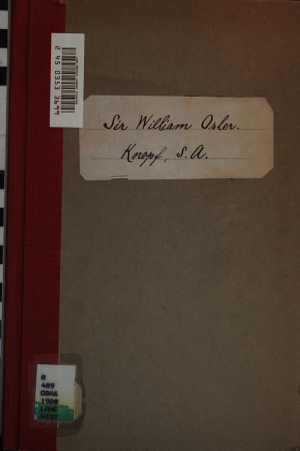 Sir William Osler  bart    in memoriam