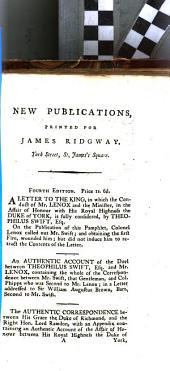 New Publications, Printed for James Ridgway, York Street, St. James's Square: Volume 10