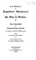 Das M  nster der Augustiner Chorherren zu St  Afra in Meissen  Eine S  cularschrift  etc PDF
