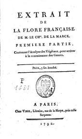 Extrait de la Flore française du chevalier de Lamarck