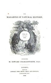 The Magazine of Natural History: Volume 4