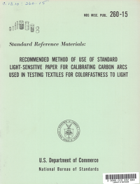 Recommended Method of Use of Standard Light Sensitive Paper for Calibrating Carbon Arcs Used in Testing Textiles for Colorfastness to Light PDF