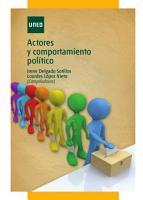Actores y comportamiento pol  tico PDF