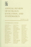 Annual Review of Ecology  Evolution  and Systematics PDF