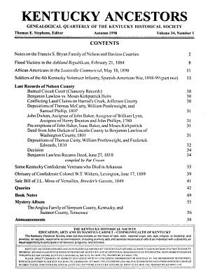Kentucky Ancestors PDF