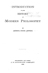 Introduction to the History of Modern Philosophy