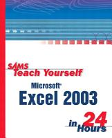 Sams Teach Yourself Microsoft Office Excel 2003 in 24 Hours PDF