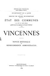 État des communes à la fin du XIXe siècle: Vincennes - Vitry-sur-Seine