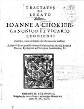Tractatus De Legato: Cum Indice gemino, uno Capitum, altera Rerum maxime notabilium