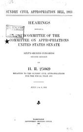 Sundry Civil Appropriation Bill, 1913