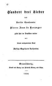 Hundert drei Lieder giebt hier im Deutschen wieder P.E. Nathusius