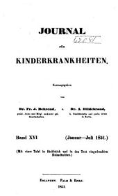 Journal für Kinderkrankheiten: Bände 16-17