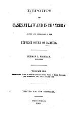 Reports of Cases at Law and in Chancery Argued and Determined in the Supreme Court of Illinois PDF