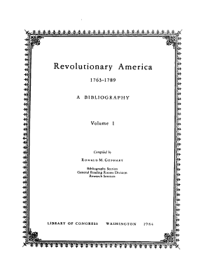 Revolutionary America  1763 1789 PDF