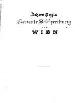 """""""Johann Pezzl's"""" Neueste Beschreibung von Wien"""