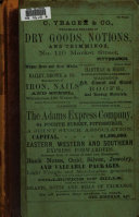 Directory of Pittsburg and Allegheny Cities, and the Adjoining Boroughs of Birmingham, East Birmingham, Lawrenceville, Manchester, Duquesne, West Pittsburgh, South Pittsburgh, Monongahela, and Temperanceville