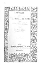 Obituaire de Saint-Thomas en Forez