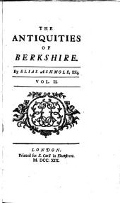 The antiquities of Berkshire