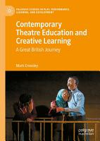 Contemporary Theatre Education and Creative Learning PDF