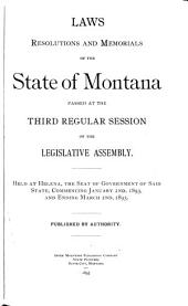 Laws, Resolutions, and Memorials of the State of Montana