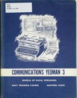 Communications Yeoman 3 PDF