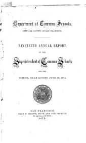 Annual Report of the Public Schools of the City and County of San Francisco