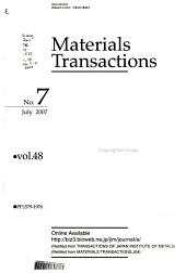 Materials Transactions, JIM.