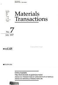 Materials Transactions  JIM