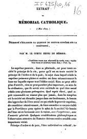 Extrait du Mémorial catholique (mai 1827). Nécessité d'éclaircir la question du pouvoir suprême sur la chrétienté