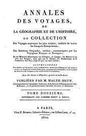 Annales des voyages de la géographie et de l'histoire: Volume12