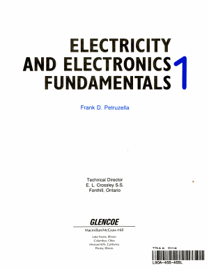 Electricity and Electronics Fundamentals PDF