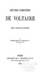 Oeuvres complètes de Voltaire: Correspondance