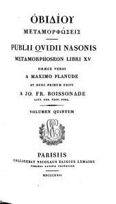 Publius Ovidius Naso: Obidiu Metamorphōseis. 5