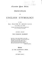 Principles of English Etymology: The foreign element