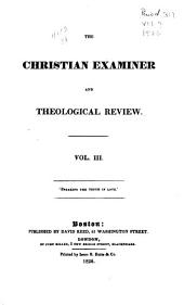 The Christian Examiner and Theological Review: Volume 3