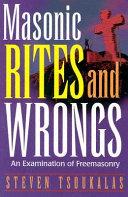 Masonic Rites and Wrongs