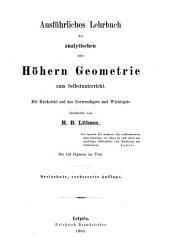 Ausführliches Lehrbuch der analytischen oder Höhern Geometrie zum Selbstunterricht