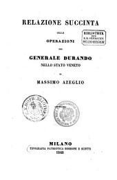 Relazione succinta delle operazioni del generale Durando nello stato Veneto