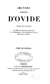 Oeuvres complètes d'Ovide: Volume 4