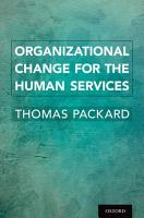Organizational Change for the Human Services PDF