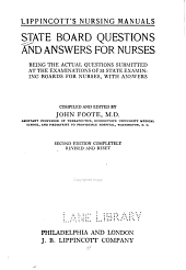 State Board questions and answers for nurses