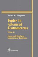 Topics In Advanced Econometrics