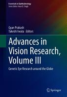 Advances in Vision Research  Volume III PDF