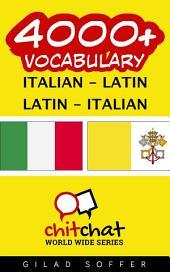 4000+ Italian - Latin Latin - Italian Vocabulary