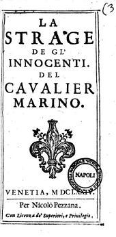 La strage de gl'innocenti. Del caualier Marino